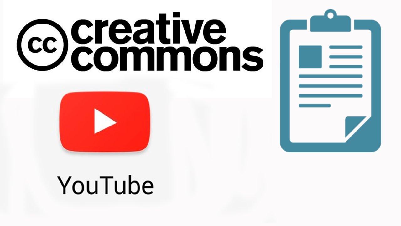 Иллюстрация на тему Creative Commons что это такое в Ютубе: лицензия
